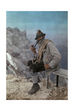 The Best-Known and Oldest Guide of the Frontier Smokes a Pipe Photographic Print by Hans Hildenbrand