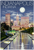 Indianapolis, Indiana - Indianapolis at Night Posters