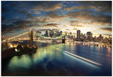 Amazing New York Cityscape - Taken After Sunset Affiches