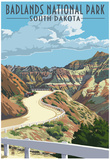 Badlands National Park, South Dakota - Road Scene Prints