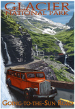 Glacier National Park - Going-To-The-Sun Road, c.2009 Poster