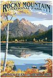 Long's Peak e Bear Lake, Parco Nazionale delle Montagne Rocciose Poster