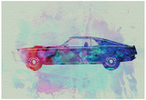 Ford Mustang Watercolor 1 Posters