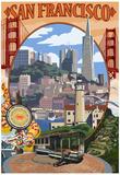 San Francisco, California Scenes Poster