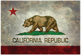 California State Flag With Distressed Treatment Posters
