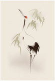 Oriental Style Painting, Red-Crowned Crane Prints