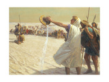 A Painting Depicts Alexander the Great Refusing Water in the Desert Giclee Print by Tom Lovell