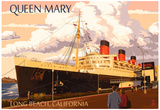 Long Beach, California - Queen Mary Poster
