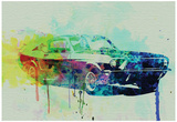 Ford Mustang Watercolor 2 Pôsters por  NaxArt