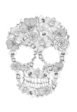 Skull From Flowers Prints