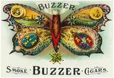 Buzzer Brand Cigar Inner Box Label Poster