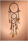 Beautiful Dream Catcher On Brown Background Photo