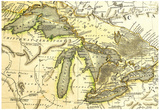 1795 Map Of The Great Lakes Prints