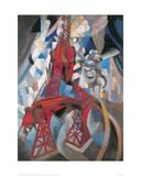 The Tour Eiffel and Paris, 1911-1912 Reproduction procédé giclée par Robert Delaunay