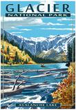 Avalanche Lake - Glacier National Park, Montana Kunstdrucke
