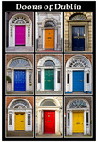 The Old Georgian Doors Of Dublin Poster
