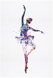 Ballerina Dancing Watercolor 2 高品質プリント