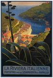 La Riviera Italienne: From Rapallo to Portofino Travel Poster - Portofino, Italy Affiches