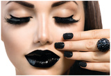 Beauty Fashion Model Girl With Black Make Up, Long Lushes Posters