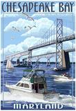 Chesapeake Bay Bridge - Maryland Prints
