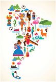 South America Love - Poster
