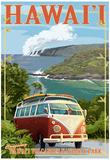 VW Van - Hawaii Volcanoes National Park Poster