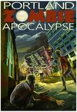 Portland, Oregon - Zombie Apocalypse Prints