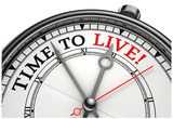 Time To Live Concept Clock Print