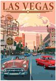 Las Vegas Old Strip Scene - Poster