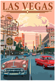 Las Vegas Old Strip Scene Posters