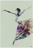 Ballerina Watercolor 3 Posters af NaxArt