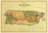 Puerto Rico - Panoramic Map Posters