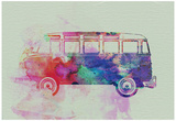 VW Bus Watercolor Affiches
