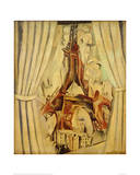 Eiffel Tower with Curtains, 1910 Giclee Print by Robert Delaunay