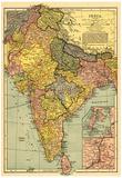 India - Panoramic Map Poster