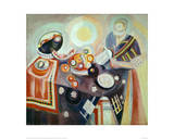 Coffee Pot or Portugeuse Still Life, 1916 Giclée-tryk af Robert Delaunay