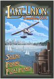 Lake Union Float Plane, Seattle, Washington Prints