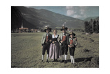 A Group of Zillertal Boys and Girls Photographic Print by Hans Hildenbrand