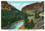 Southern Colorado, View of Upper Rio Grande River between Del Norte and Creede Prints