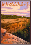 Mesa Verde National Park, Colorado - Cliff Palace at Sunset Prints