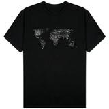 World Map City Lights Shirts