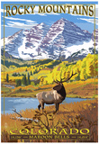 Maroon Bells - Rocky Mountain National Park Poster