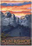 Mount Rushmore National Memorial, South Dakota - Sunset View Photo