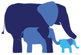 Blue Elephants Photo