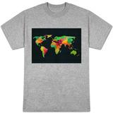 World Map Watercolor T-shirts