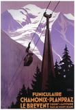 Téléphérique du Brévent. Chamonix - Mont Blanc, France. Poster