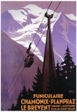 Chamonix-Mont Blanc, France - Funicular Railway to Brevent Mt. Poster