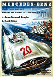 Mercedes Benz Auto Racing Promotion Posters