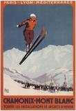 Chamonix Mont-Blanc, France - Ski Jump Poster