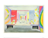 Design for the Interior of the Aviation Pavillion at the World Exhibition in Paris, 1937 Giclee Print by Robert Delaunay